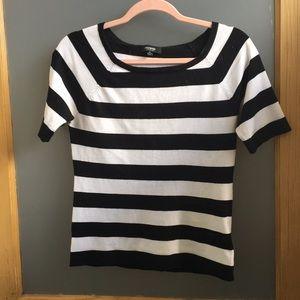 Premise Studio partisan stripe knit top